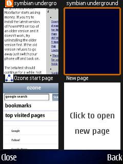 Ozone mobile phone web browser for Symbian S60
