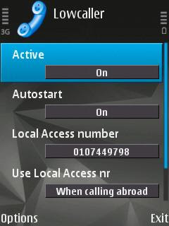 LowCaller VoIP call manager for Nokia