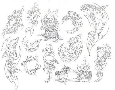 traditional tattoo flash. tattoo flash dragon.