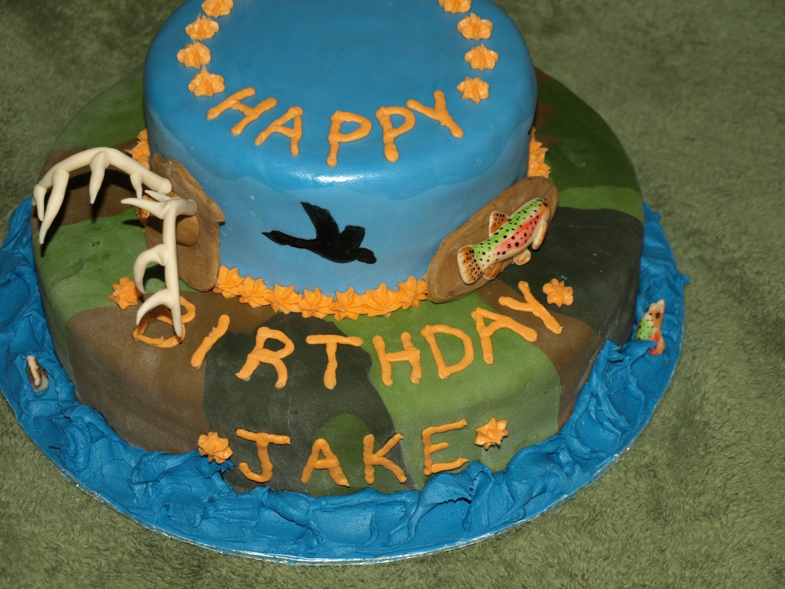 Sugar High Makery HuntingFishing Cake