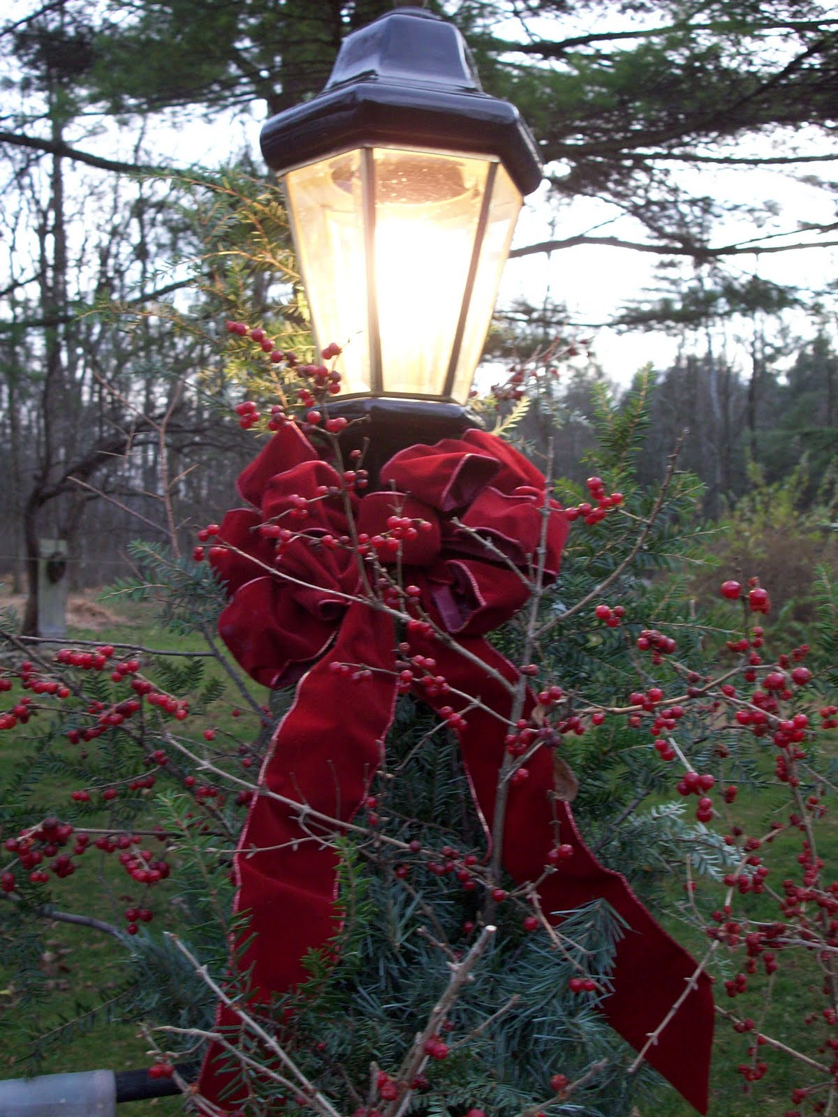 Flagpole christmas tree lights http timewornprimitives blogspot com