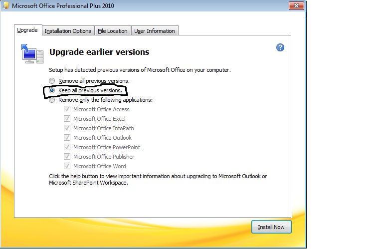 Install or remove individual Office 2010 programs and