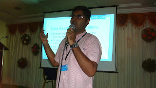 Pavan Parachuri giving the presentation
