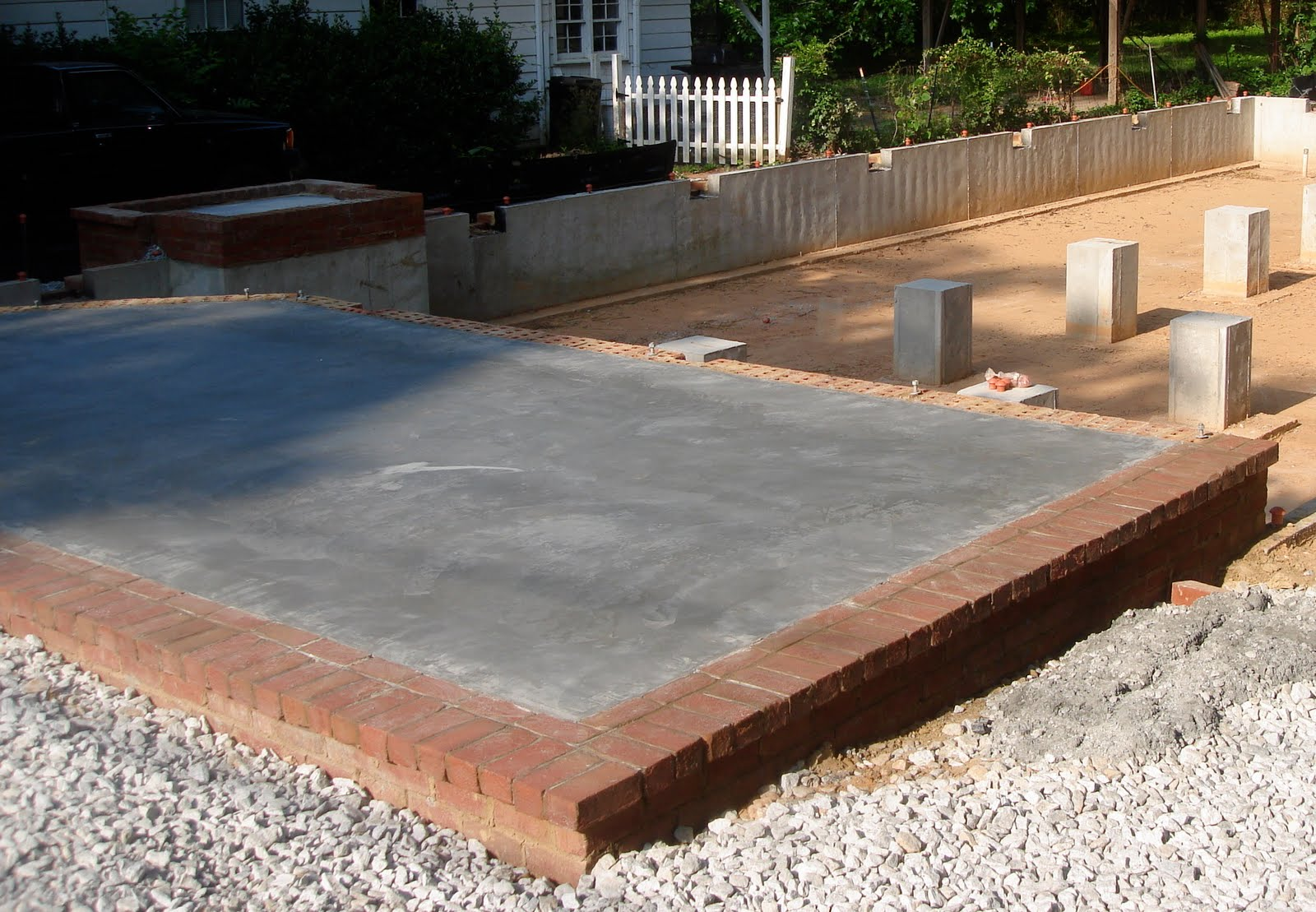 Poured concrete porch for double wide home joy studio for Slab vs crawl space
