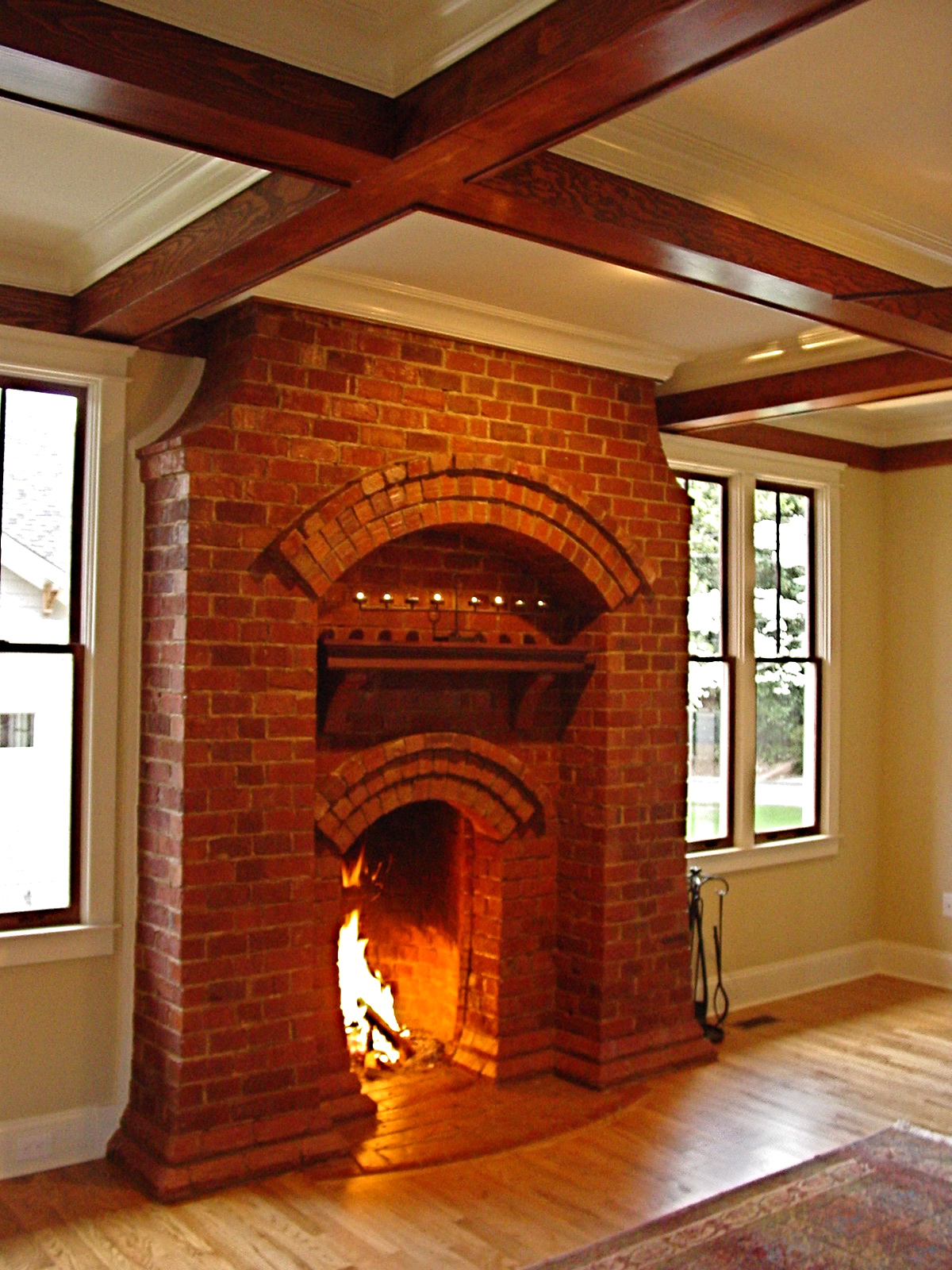 Chapman architecture the daulton house epa fireplace for Isokern fireplace cost