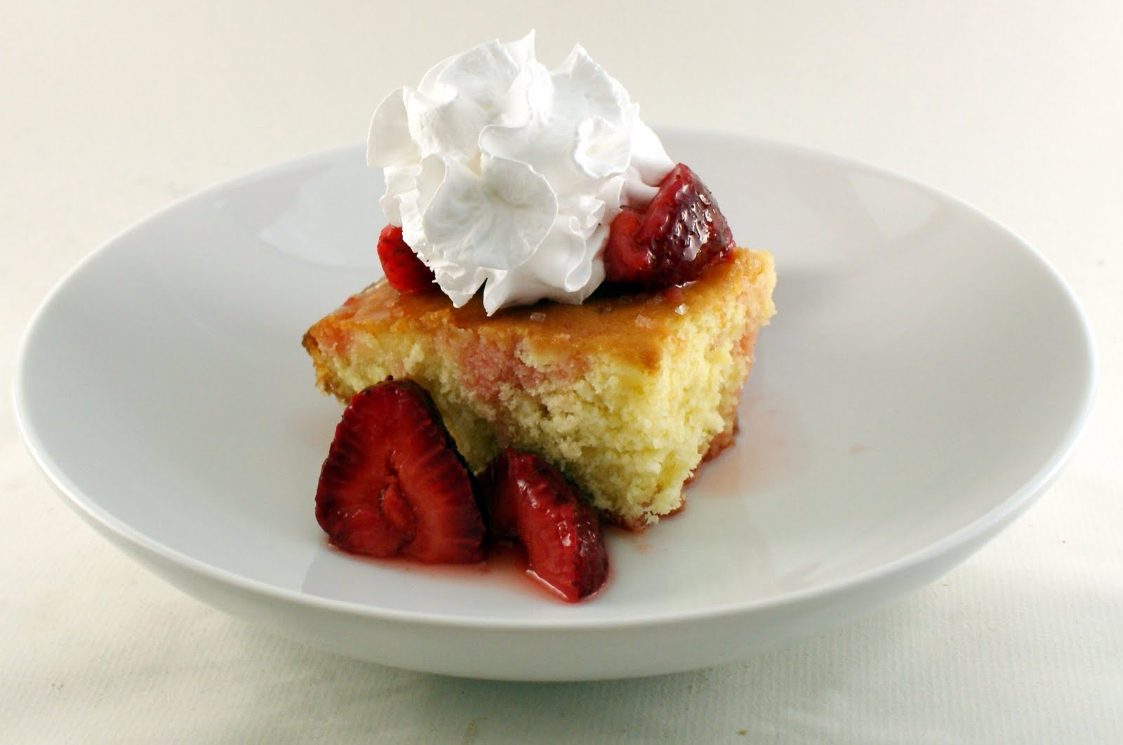 The Merlin Menu: Lime Cake with Strawberry Compote