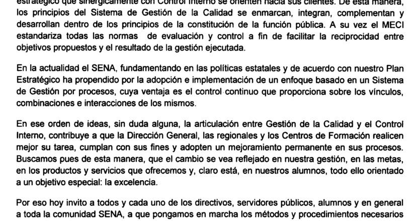 de Gestión y Autocontrol SIGA - CEET: Compromiso de la Dirección
