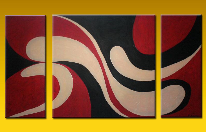 Cuadros tripticos texturados imagui for Imagenes de cuadros abstractos tripticos