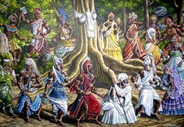olha os orixas de umbanda vivendo em paz