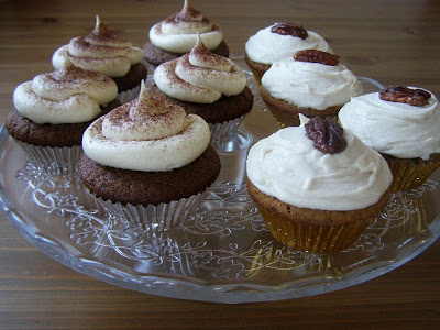 Cappuccino and Maple Candied Pecan Cupcakes
