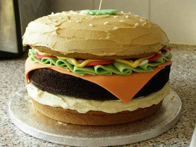 veggie burger cake