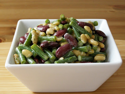 3 bean salad with lemon dill vinaigrette