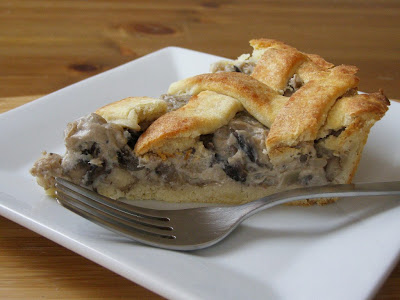 Mushroom Pie with Potato Pastry and Pearl Barley