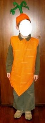 vestito da carota
