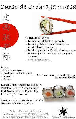 Ccg curso de cocina japonesa - Curso cocina japonesa ...