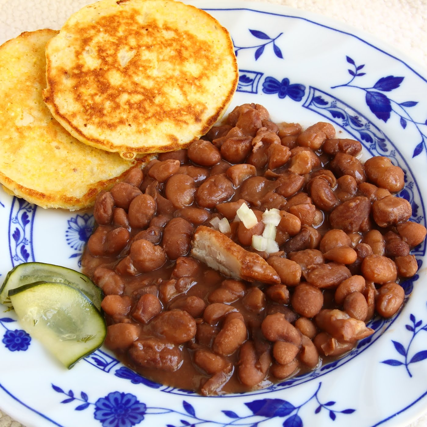ShowFood Chef: Pinto Beans & Fried Corn Bread - Southern Family ...