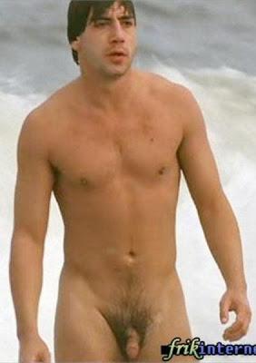 Javier Bardem Caught Naked