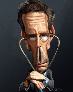 Funny Caricatures Of Dr. House Hugh Laurie