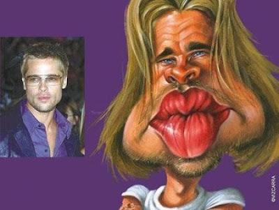 brad pitt caricature. Funny Celebrities Caricatures