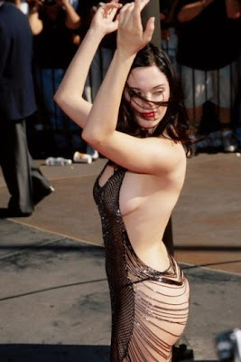 see through dress rose mcgowan