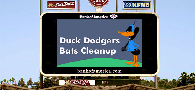 Duck Dodgers Bats Cleanup - a blog about baseball