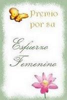 Premio a mi Esfuerzo Femenino