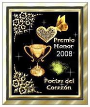Premio Honor 2008, Poetas del Corazón