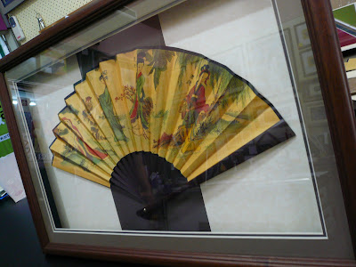 framed Chinese fan