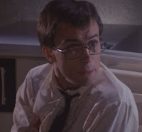 Jeffrey Combs wonders if Barbara will get naked again in House of Re-Animator.