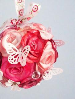 Momichka Monarch Butterflies Landing On A Paper Flowers Pomander