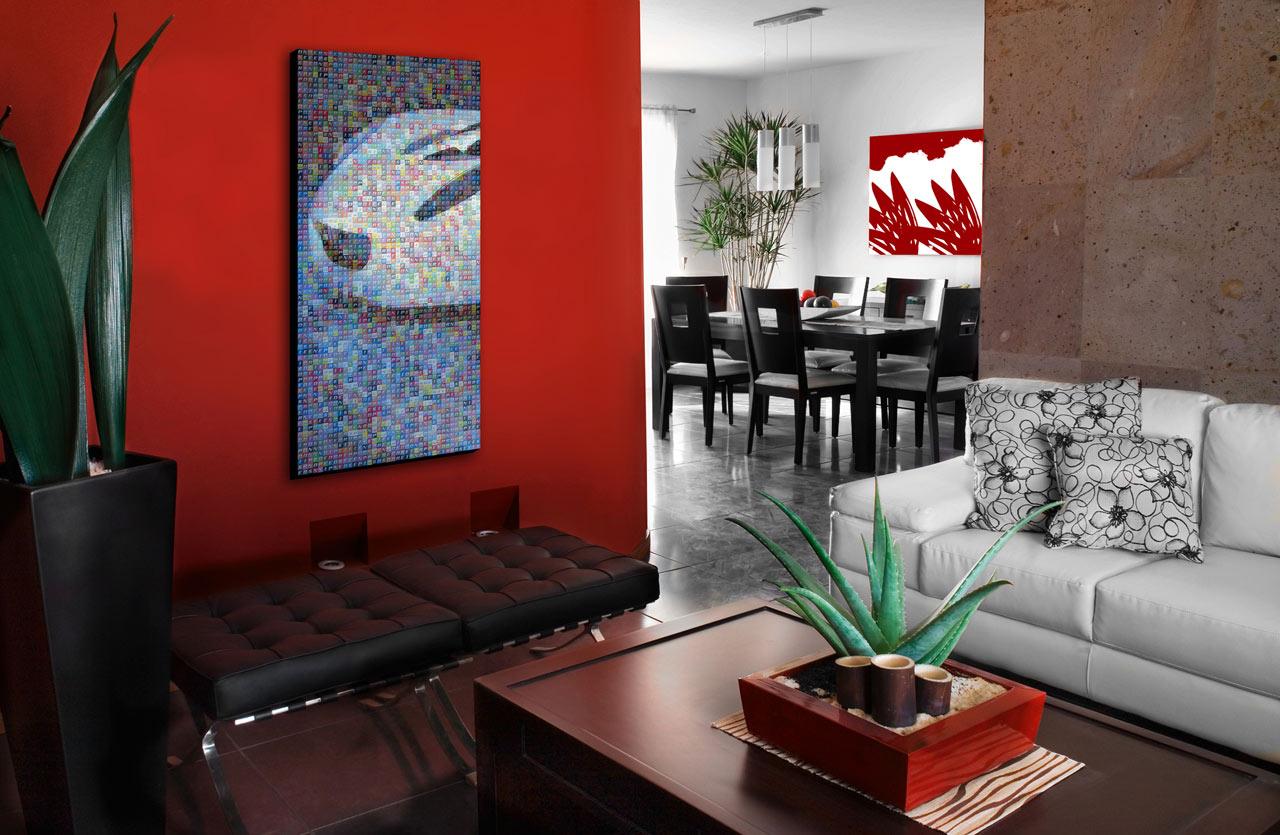 Decorao De Sala Com Vermelho Decoracao Sala Vermelha Branca Ideias  -> Decoracao De Sala Pequena Vermelha E Amarela