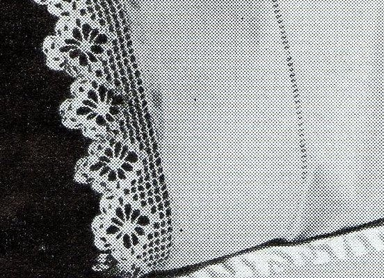 Crocheted Lace Spider Lace Pillow Case Edging
