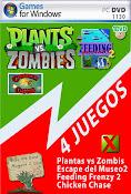 Plant vs Zombies 4 Juegos en 1