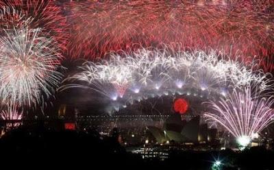 Pesta Kembang Api di Gedung Operas Sydney