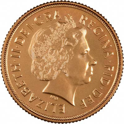 Obverse of 2010 Uncirculated Sovereign