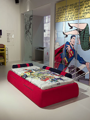 Creative Superman and Batman Kids Rooms
