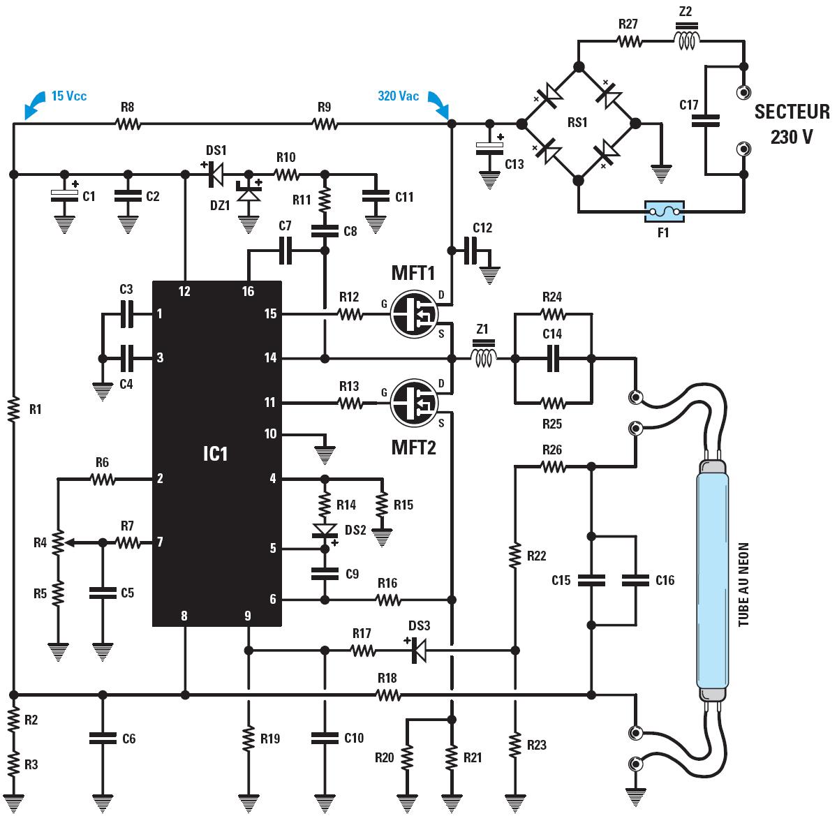un variateur pour tubes au n u00e9on