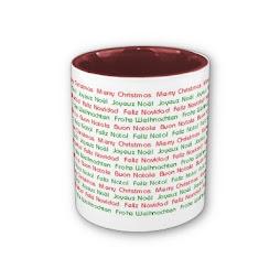 Feliz Navidad en múltiples idiomas.
