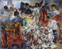 """""""Las Colchas"""" (1921) de Fernando Fader (1882-1935)"""