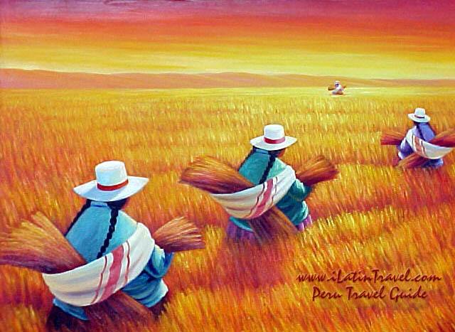 poco de pintura de nuestros departamentos de Perú tales como Tarma y