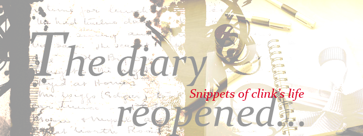 The diary reopened