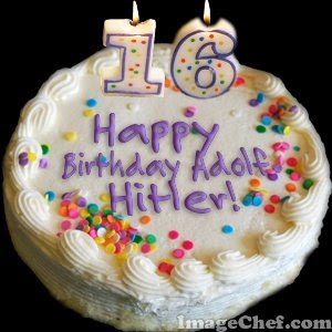 Imagechef Birthday Cake With Name : The Soccer Mom Files: Some Fun with Adolf Hitler!
