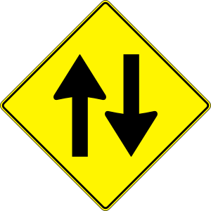 two way traffic symbol photos