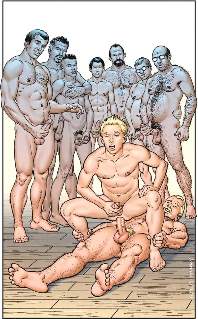 Порно фото рисунков геев