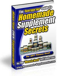 homemade supplement secrets for muscle mass