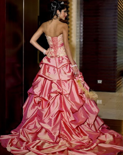 Wedding Gown Picture Beautiful Pink Wedding Gown