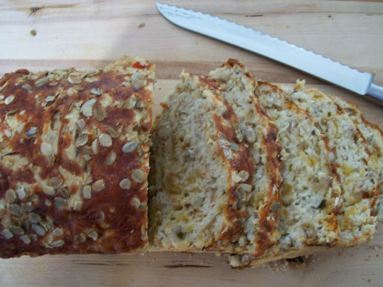 Beer. Butter. Bacon.: Multi-grain Beer Bread with Caramelized Onions ...