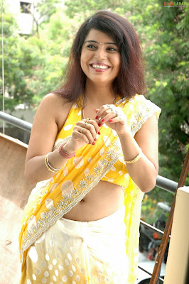 Actress Prachi Adhikari Saree Below Navel show Photos