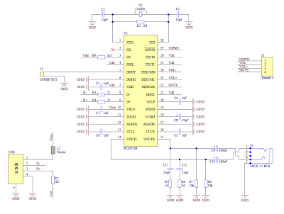 diy4fun make a sound card pcm2704 schematic of sound card pcm2704
