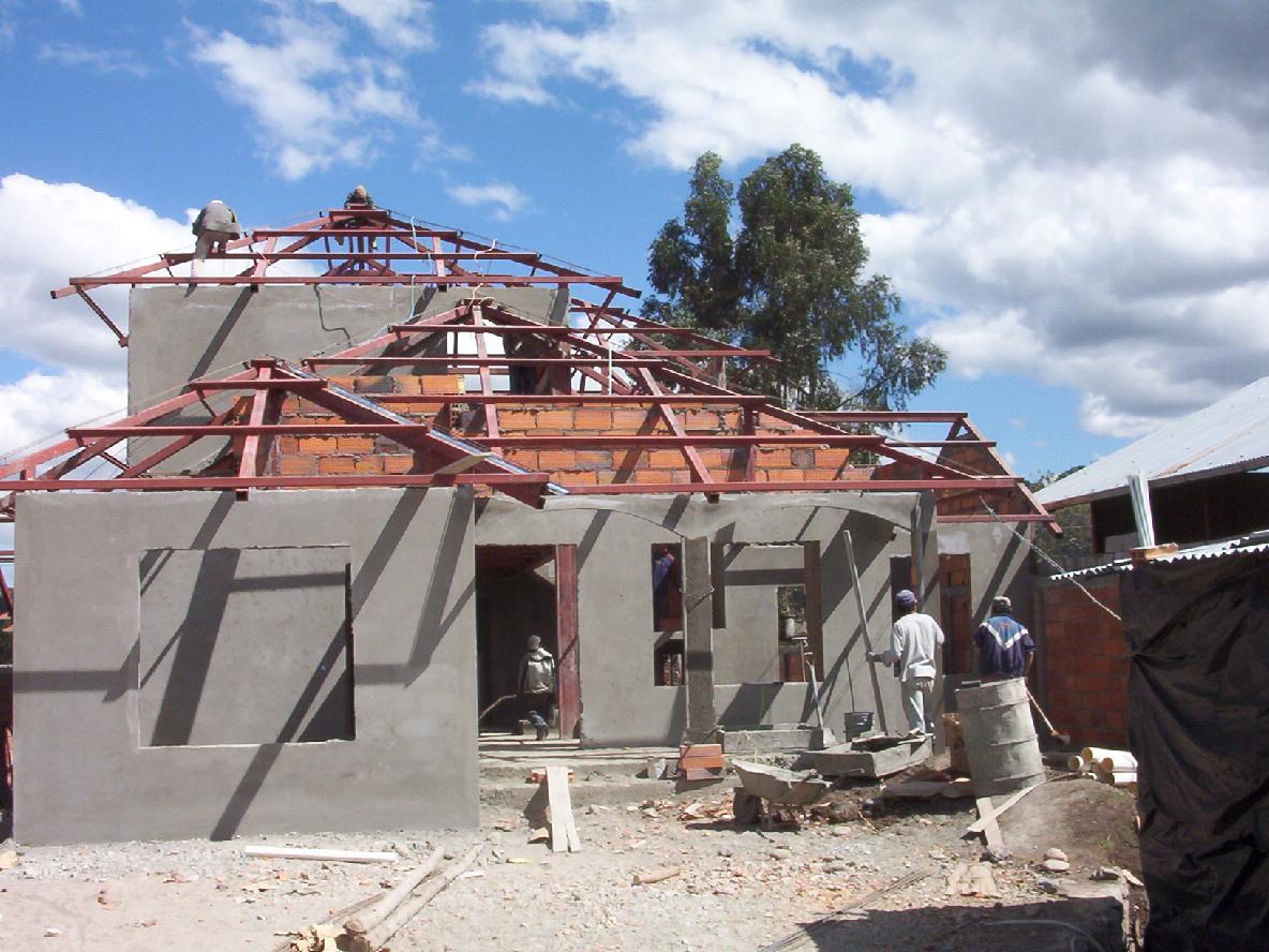 Bojorque construcciones vivienda peralta - Estructura metalica vivienda ...